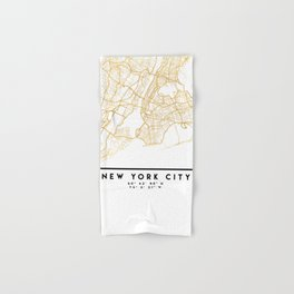 NEW YORK CITY NEW YORK CITY STREET MAP ART Hand & Bath Towel