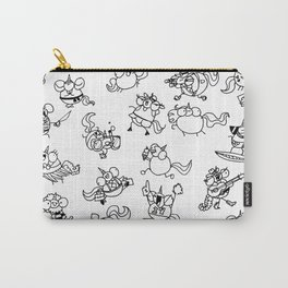 Phat Unicorns Collage Black and White Carry-All Pouch