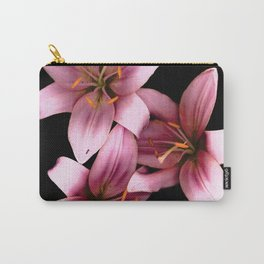 Pretty Pink Ant Lilies, Flowers Scanography Carry-All Pouch