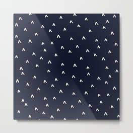 Arrow Heads // Navy Metal Print