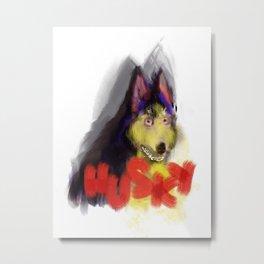 husky the dog Metal Print