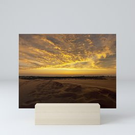 Michigan Sunset off Lake Michigan from Silver Lake Sand Dunes Mini Art Print