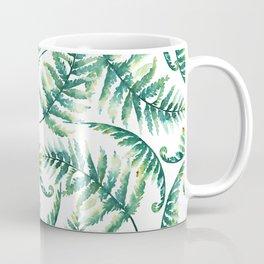 Lush green fern leafs pattern Coffee Mug