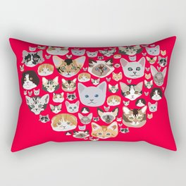 I LOVE CATS Rectangular Pillow