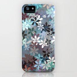 Blue Moon Flower Garden iPhone Case