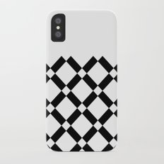 Abstract geometric pattern - black and white. Slim Case iPhone X