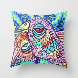 Psychedelic Vision Throw Pillow