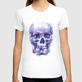 Skull Watercolor Purple Colorful T-shirt