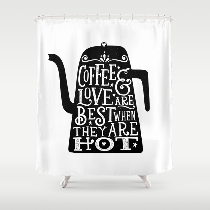COFFEE LOVE Shower Curtain By Thewellkeptthing