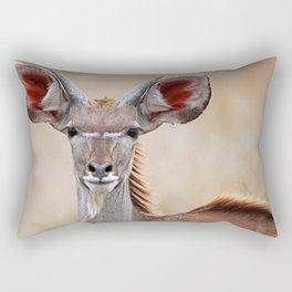 Young Kudu, Africa wildlife Rectangular Pillow