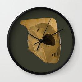 Rocketeer Helmet polygon art Wall Clock