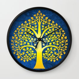 Bodhi Tree0102 Wall Clock