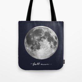 Full Moon on Navy English Tote Bag