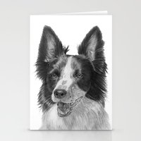 border collie Stationery Cards featuring Border collie by Doggyshop