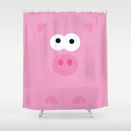 Minimal Pig Shower Curtain
