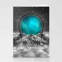 stargate Stationery Cards featuring Fade Away (Lunar Eclipse) by soaring anchor designs
