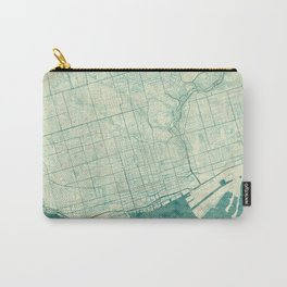 Toronto Map Blue Vintage Carry-All Pouch