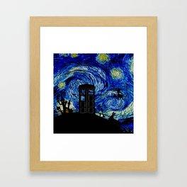 Starry Night at Halloween Framed Art Print