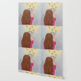 Blowing dandelion seeds Wallpaper