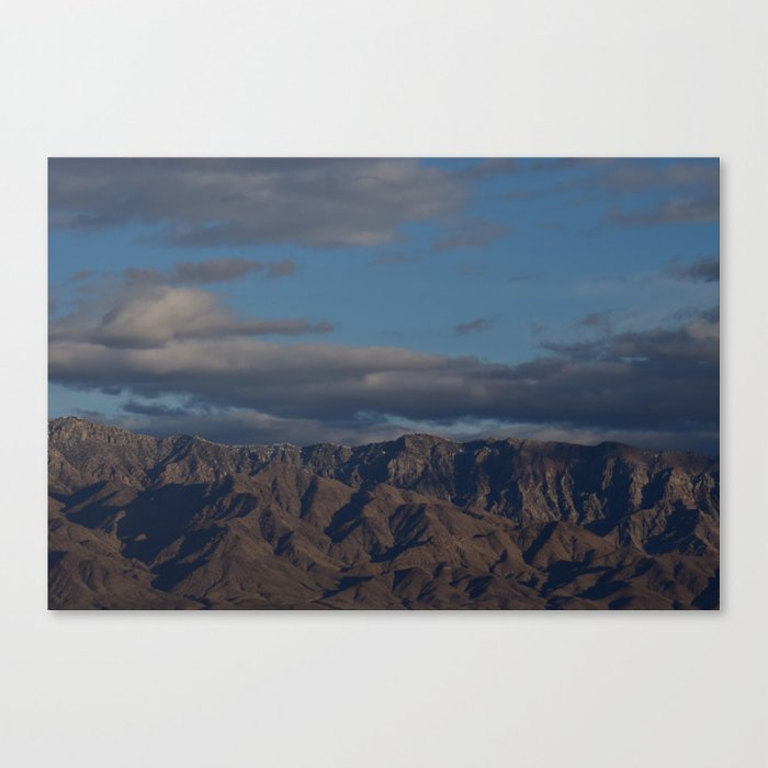 Virgin Mountains in February Canvas Print