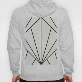 Diamond Series Sun Burst Charcoal on White Hoody