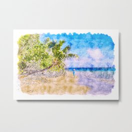 Tropical Island Metal Print