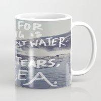 salt water Mugs featuring Salt Water by Leah Flores