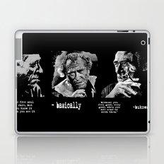 BUKOWSKI collage - The FREE SOUL quote Laptop & iPad Skin