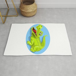 Cartoon Crocodile Vector Design Rug