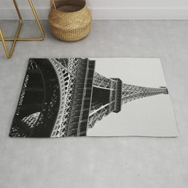 Eiffel Tower // Looking up at the World's Most Famous Monument in Paris France Classic Photograph Rug