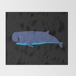 Whale you miss me? Throw Blanket