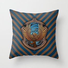 Hogwarts House Crest - Ravenclaw Book Throw Pillow