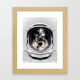 Buster Astro Dog Framed Art Print