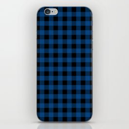 Plaid (blue/black) iPhone Skin
