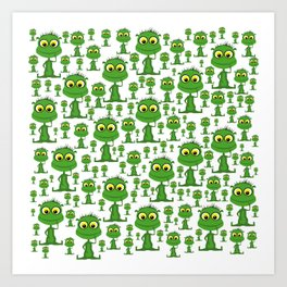 Population: Snood - Aliens - Outerspace - 57 Montgomery Ave Art Print