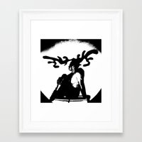antler Framed Art Prints featuring Antler by Maria Kate Betts