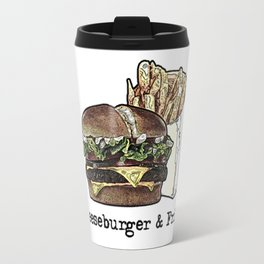 Cheeseburger & Fries Travel Mug