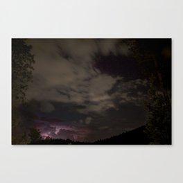Starry Night Lightning Canvas Print