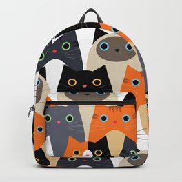 I Love Cats Bunch of Sweet Kitties Backpack