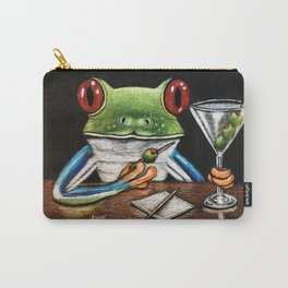 """""""Martini"""" - Frogs After Five collection Carry-All Pouch"""
