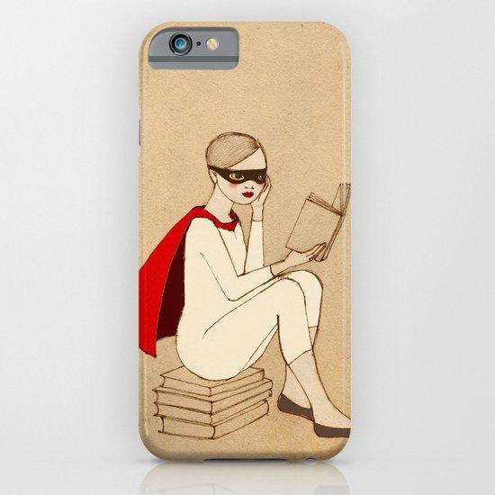 Superhero reader iPhone & iPod Case