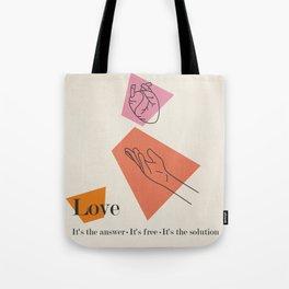 Love: Sixties Tote Bag