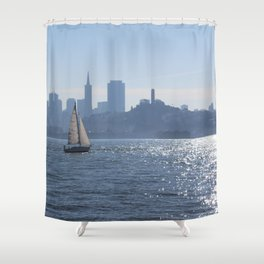 50 Shades of Blue Shower Curtain