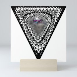 """Beez Lee Art : Foggy Triangle Point of View"" Mini Art Print"