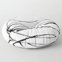 My mind is a mess. Floor Pillow