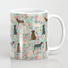Labrador Retriever dog breed floral pattern for dog lover chocolate lab golden retriever labradors Coffee Mug
