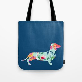 Colorful Teckel dog Tote Bag