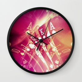 Pink Flush Wall Clock