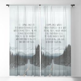 Quote for The Road Sheer Curtain