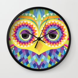 Rave the Owl Wall Clock